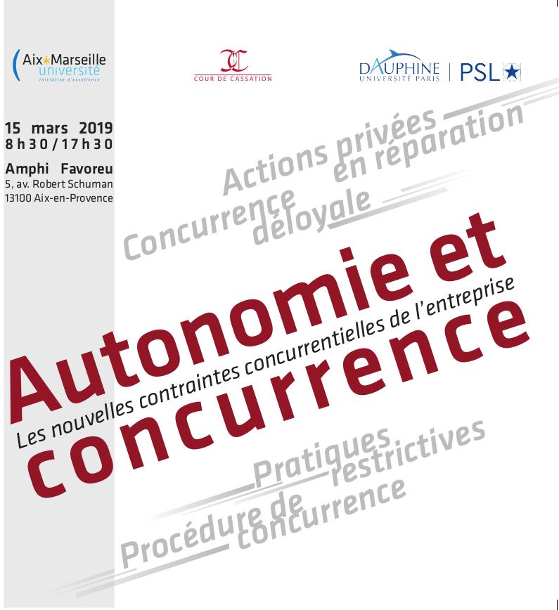 Autonomie et Concurrence