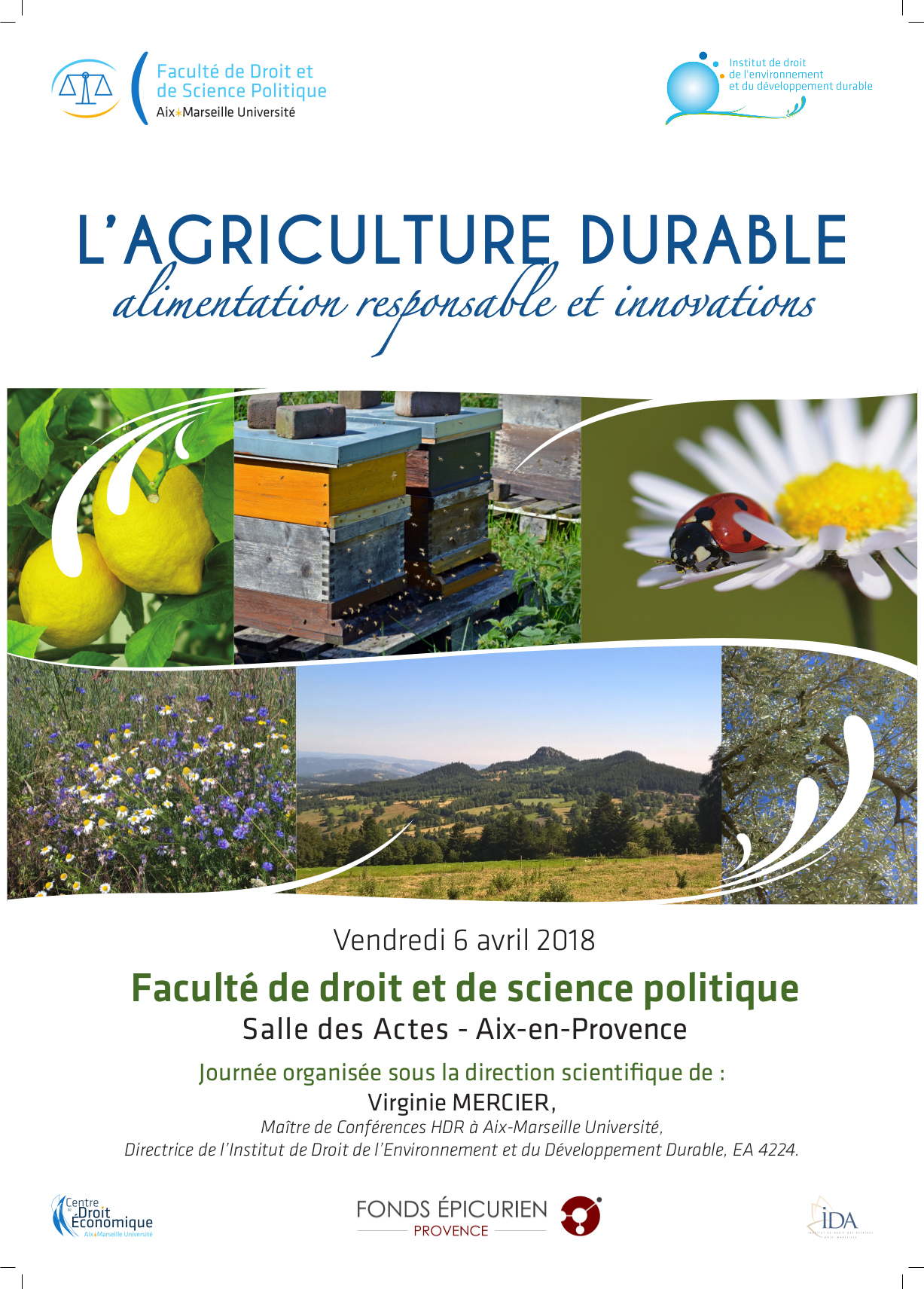 Colloque Agriculture Durable 6 Avril 2018 Affiche