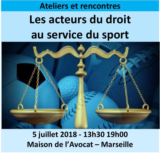 Les acteurs du droit au service du sport