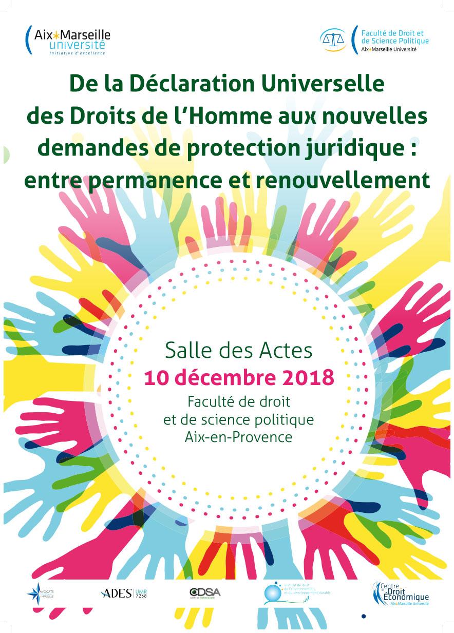 Colloque Déclaration Universelle Droits Homme AFFICHE