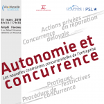 Colloque Autonomie et Concurrence