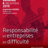 Colloque Responsabilité et Entreprises en Difficulté - AFFICHE